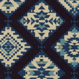 Boho Style Linen/Cotton Canvas Dark