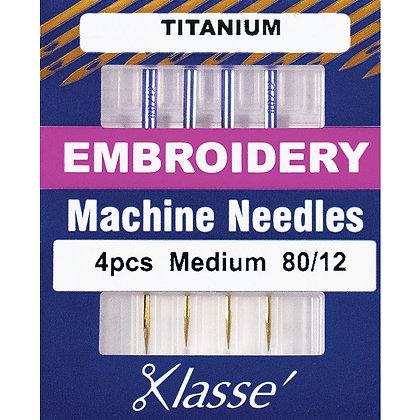 Klasse 80 Embroidery Needles Titanium