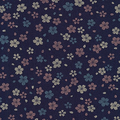 Sevenberry Kasuri/Indigo floral