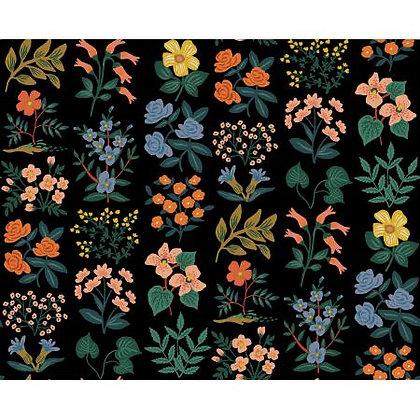 Meadow Wildflower Field Black Canvas
