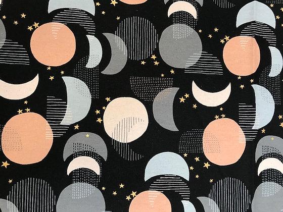 Kokya Stars Cotton/Linen Canvas Black