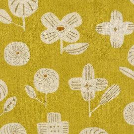 Kokyka Yellow Linen/Cotton Canvas