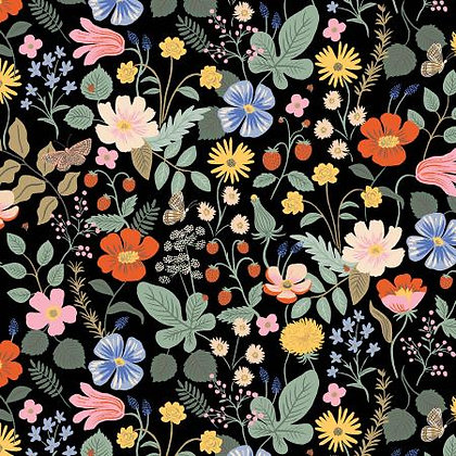 Strawberry Fields Rayon Black