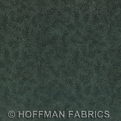 Hoffman Fabric Brilliant Blender in Evergreen/Silver