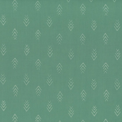 Herringbone/Basil  Hand dyed Batik