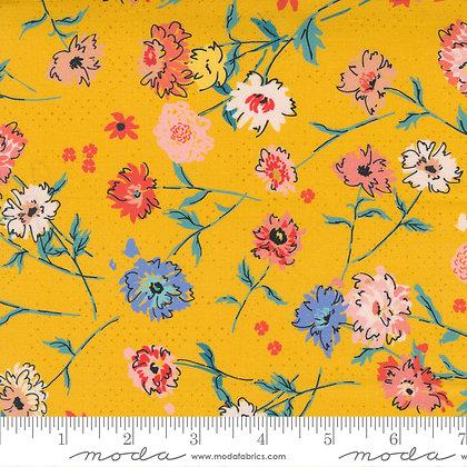 Lady Bird Medium Floral Saffron