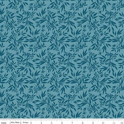 Bloom Leaves Blue Knit