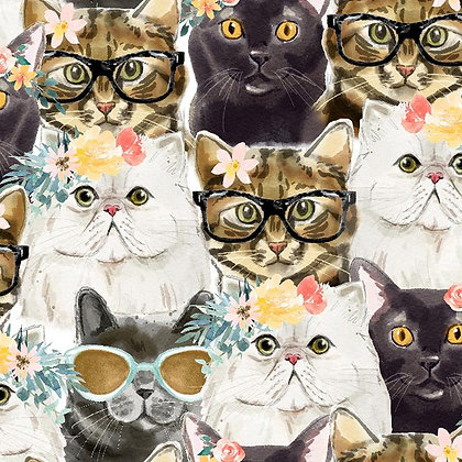 Everyday is Caturday Hipster Cat