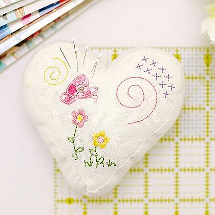 Heart Fabric Pincushion Kit