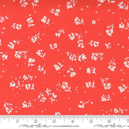 Lady Bird Red Small Floral