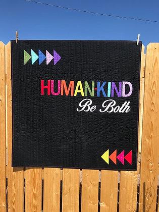 Kindness Quilt KIT Black Rainbow