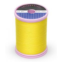 Cotton and Steel Thread 1187Mimosa Yellow