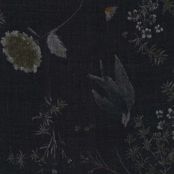 Nani Iro Linen Birds Black
