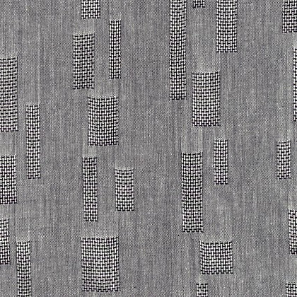 Yarn Dyed Jacquard Dark Gray Rectangles