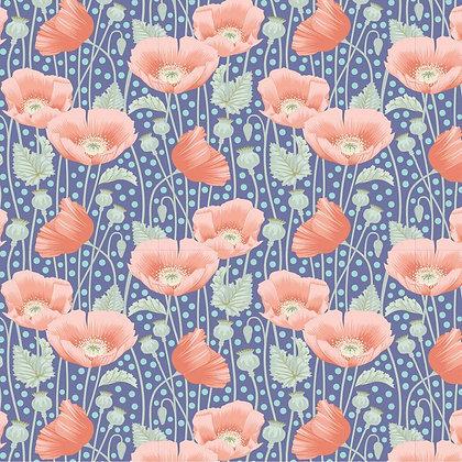 Tilda Garden Life Poppies Blue
