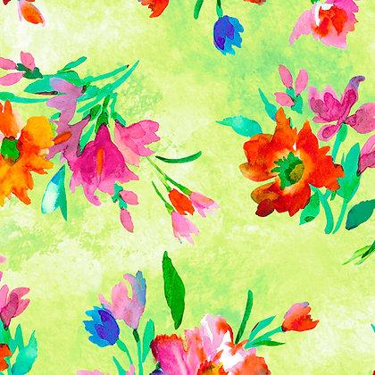 Full Bloom/Floral Lime SALE