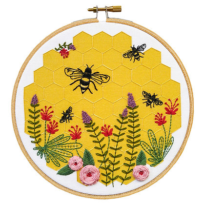DIY Embroidery Kit Bee Lovely