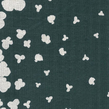 Nani Iro Double Gauze Falling Floral white on Forest