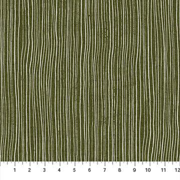 Harmony Green White Stripe Linen/Cotton Canvas