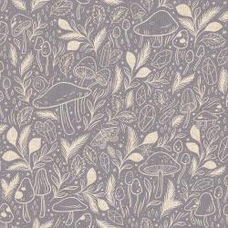 Mystical Mushrooms Linen/Cotton Canvas