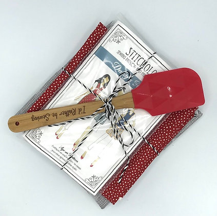 I'd Rather Be Sewing Apron Kit Red Oven