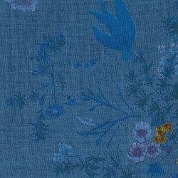 Nani Iro Linen Birds Blue