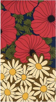 Retro Flower Boarder Print Sheeting