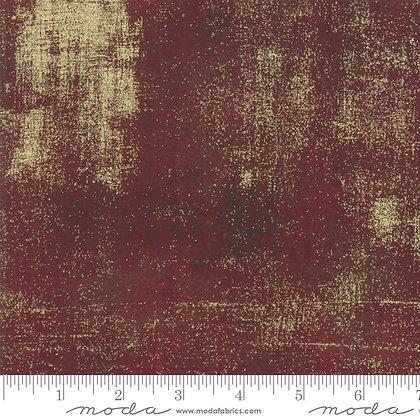 Grunge Metallic/Burgundy