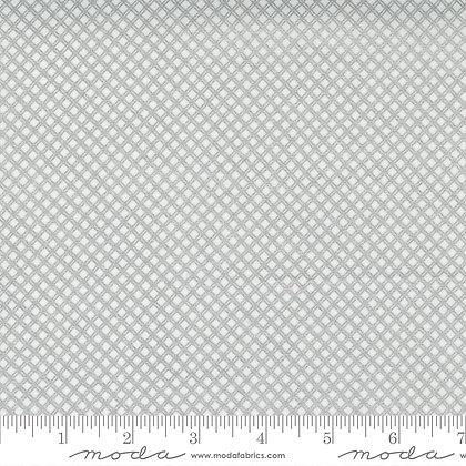 Whispers Metallic Silver on White Grid