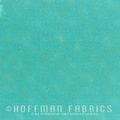 Hoffman Fabric Brilliant Blender in Robin's Egg/Gold