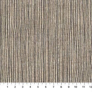Harmony White with Black Stripe Linen/Cotton Canvas
