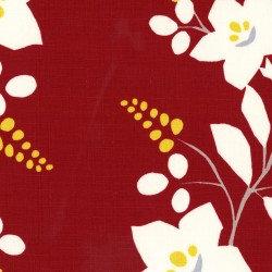 Barkcloth Honobonoya Red Floral