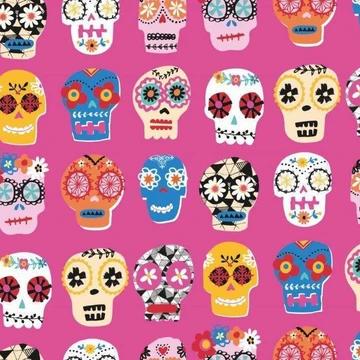 Fiesta Pink Sugar Skull
