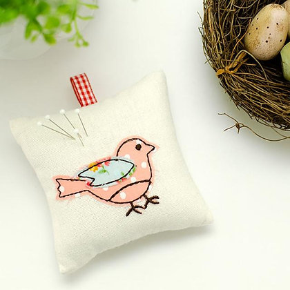 Bird Fabric Pincushion Kit