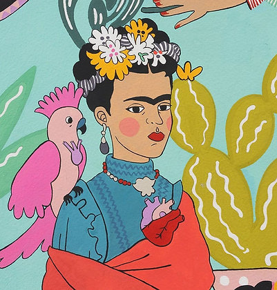 Frida Con Las Plumas