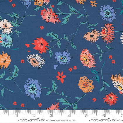 Lady Bird Medium Floral Navy