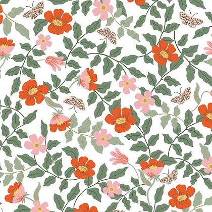 Strawberry Fields Rayon Ivory Primrose