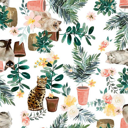 Everyday is Caturday Potted Plant