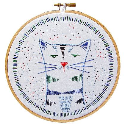 DIY Embroidery Kit Nine Lives