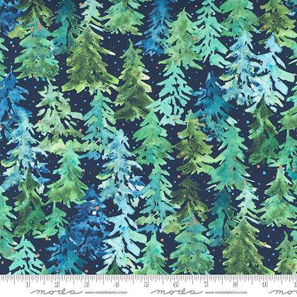 Starflower Christmas Forest Navy