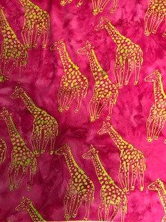 Serengeti Sunset Rayon Batik Pink