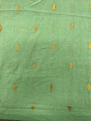 Indian Sari Green with Gold