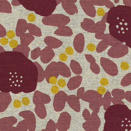 Rose Floral Linen/Cotton Sheeting