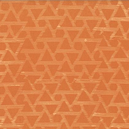Hand Dyed Batiks Textured Diamonds Orange