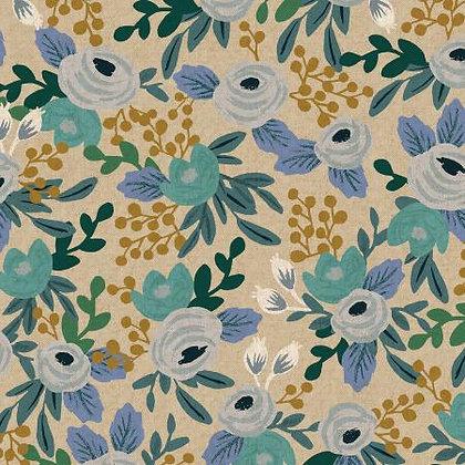 Garden Party Rosa Blue Linen/Cotton Blend