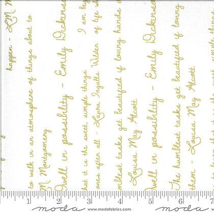 Dwell in Possibilities Ivory Script Metallic