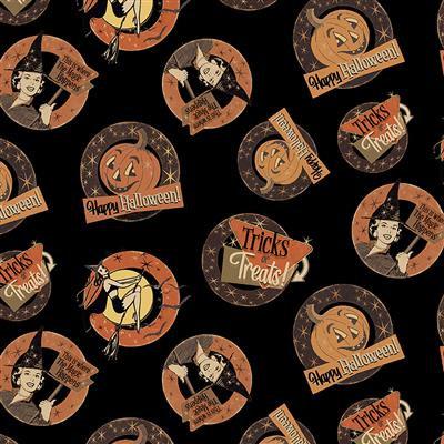 Retro Halloween Medallions
