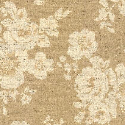 Kokka Cotton/Linen Sheeting Cream Floral
