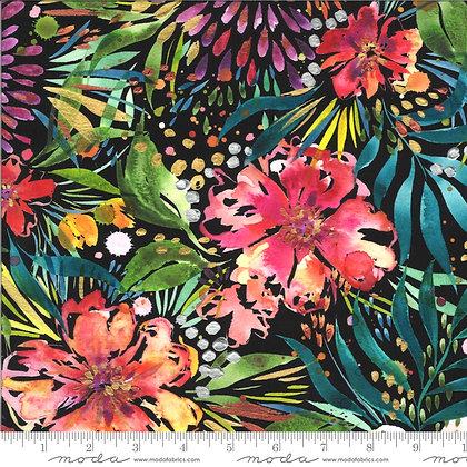 Moody Bloom Digital Black Floral