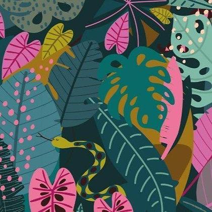 Night Jungle Leaves